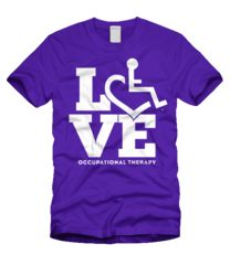 LOVE Occupational Therapy T-Shirt. (for chels) Speech Pathology, Speech Therapy, Music Therapy, Love Speech, Occupational Therapy Assistant, Physical Therapist, Physical Therapy Shirts, Teacher Shirts, Team Shirts