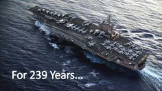 """""""Come, America, come."""" For 239 years, the Navy has stood the watch."""