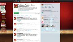 Página do Twitter da Tabasco. Customização do background para o concurso Descubra o Melhor com Tabasco (2011)