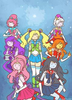 Sailor moon // Adventure time crossover