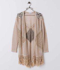 Miss Me Open Weave Cardigan Sweater