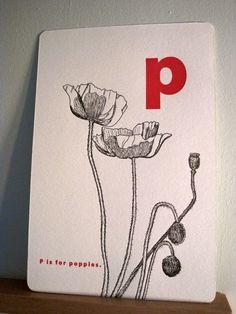 letterpress alphabet cards