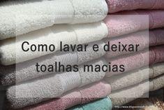 Como lavar e deixar toalhas macias