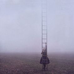 Writing Prompt: The little girl didn't need to know where the ladder led, she simply needed to leave. So she climbed.
