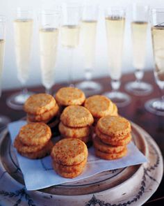 For an extra indulgent hors d'oeuvre, top this cheddar cheese shortbread with smoked salmon and caviar, and serve with glasses of champagne.