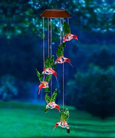 Loving this Painted Hummingbird Solar Mobile on #zulily! #zulilyfinds