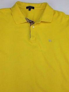 Burberry Polo Mens Shirt Size Sz M Medium Nova Check Plaid Authentic B | eBay