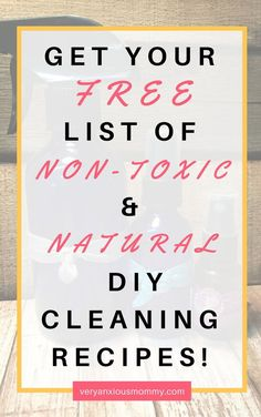 Are you looking for A Guide or List of Non-Toxic and Natural Cleaning Products! Spring Cleaning, DIY Cleaning Recipes, wholesome ingredients, essential oils, lemon, vinegar, castile soap, green living, clean up, How to's, Easy, Cheap, Frugal, Budget, Young Living Essential Oils. #green #DIY