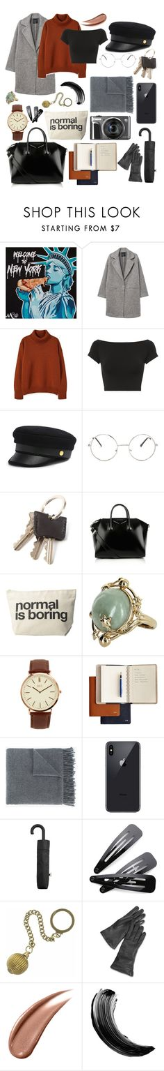 """Untitled #138"" by riden17 ❤ liked on Polyvore featuring MANGO, Helmut Lang, Henri Bendel, Nasty Gal, Givenchy, Dogeared, Vintage, BKE, Mark & Graham and Acne Studios"