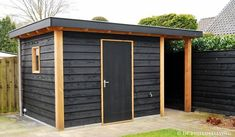 backyard shed diy Backyard Studio, Backyard Sheds, Outdoor Sheds, Backyard Patio, Outdoor Storage Sheds, Shed Building Plans, Diy Shed Plans, Painted Shed, Shed Office