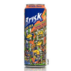 New can of Brisk Iced Tea.