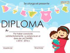 6 diplomas para los bebés que salen de la sala de lactantes
