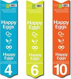 Etiquettes des différentes boites d'oeufs frais X4, X6, et X10