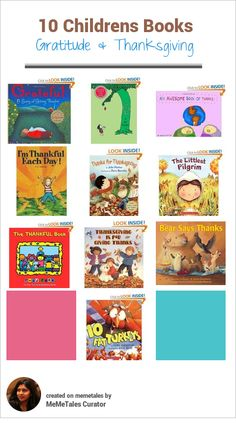 10 great books to read with your child during thanksgiving. Use these books to reflect on things you are grateful for.