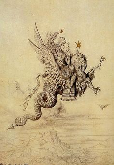 In Persian mythology, peris are descended from fallen angels who have been denied paradise until they have done penance. In earlier sources they are described as agents of evil; later, they are benevolent. They are exquisite, winged, fairy-like creatures ranking between angels and evil spirits.