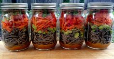 Mason Jar Food—Soba Noodle Salad With Spicy Peanut Sauce