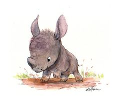 "My contribution to the ""Bowling for Rhinos"" silent auction!"