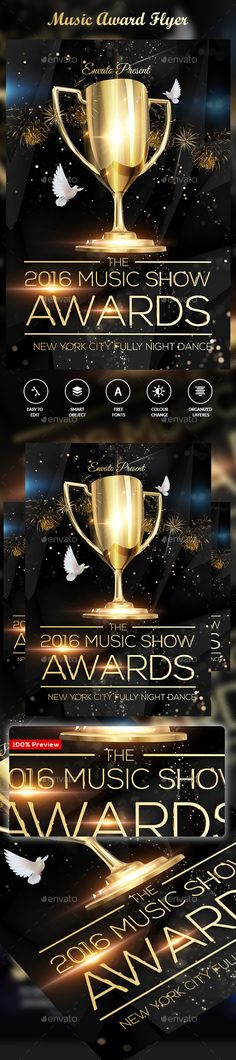 Music Award Flyer Pinterest Music Awards Web Free And Flyer