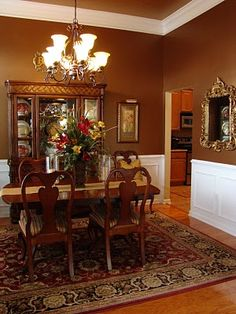 Adventures in Decorating: a more traditional Dining Room before she redid it