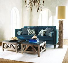 gorgeous. Love the couch and tables!