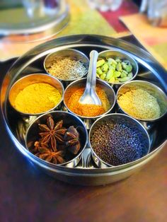 Masala dabba (Indian spice box)could make one for each cuisine