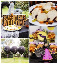 Batty HALLOWEEN Party via Kara's Party Ideas KarasPartyIdeas.com Banners, decor, supplies, food, favors, and more! #halloween #halloweenparty #halloweenpartyideas #batparty (1)