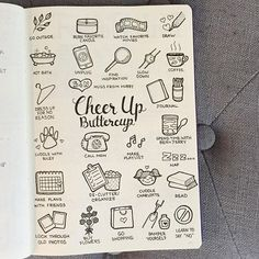 Cheer Up Buttercup  . It's just one of those days - off to try some of these ✨ . . . . . . . . . #bujo #bujospread #bujolove #bujolover #bujonewbie #bujojunkies #bujoinspire #bujoaddict #bulletjournal #bulletjournalist #bulletjournaljunkies #bulletjournalnewbie #bulletjournaladdict #journal #journaling #journals #planneraddict #planning #bujoblossoms #leuchtturm1917 #showmeyourplanner #bujodoodle #bulletjournaldoodle #doodles #doodle #illustration #doodlelist #bulletjournalcollection…
