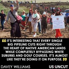 Why don't oil pipelines cut through golf courses or white suburbs?