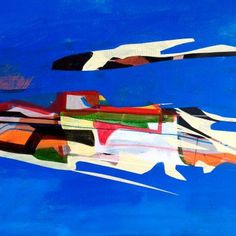 """""""My People Were Fair and Had Sky In Their Hair"""" by Jim Harris. Jim's striking paintings are full of colour and unique abstract shapes. The perfect choice of original art to brighten up your home. l FineArtSeen - The Home Of Original Art >> Pin For Later <<"""