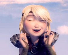 """Astrid: """"He would do anything for his big hunk of bone-crushing love! """" <---- Astrid you are just too cute ♥"""