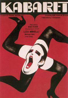 """W. Gorka, afiche para la película """"Cabaret"""": construye el mensaje a través de la morfología, muestra a través de la retórica el contexto en el que se desarrolla la película (está muy relacionado con el contenido)."""