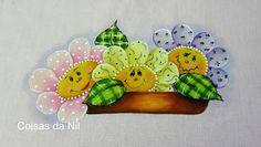 Coisas da Nil - Pintura em tecido: Flores para São João!!!