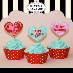 Printable Valentine Cupcake Toppers