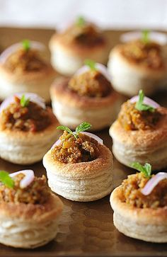 vol-au-vent french for meat filled pastry.. ooo my stomach is growling