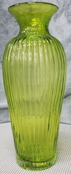 Blenko Glass, Glass Vase, Rainbow Glass, Hand Blown Glass, Wear Store, Green, Number, Signs, Decor