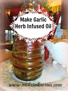 Make your own garlic herb infused oil for grilling, cooking, and salads. Adds extra flavor and health benefits. Perfect for the chef in your life.