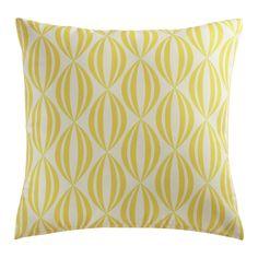 FILAO yellow/white outdoor cushion 45 x 45cm