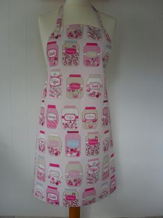 Full Length 'Sweet Jars' Pink Apron by LDCcreations on Etsy, £15.00