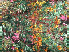 Grand foulard Autumn, jacquard weave, designed by Irene van Vliet www.wovenwonders.nl