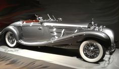 1935 Mercedes Kompressor - Portland Art Museum - Shezphotoz.  I did a model car of this when I was younger, Love this style!