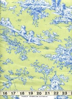 Central Park Toile: Lime by J&O Fabrics