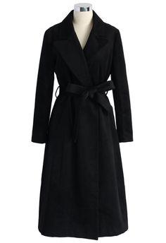 Fall/Winter Basic.Classic Black Coat.