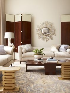 Top home decor looks on purehome.com - Living room styled by Thomas Pheasant.