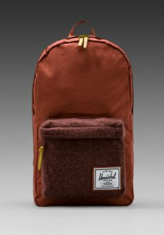 HERSCHEL SUPPLY CO. Woodside Knitted Collection Backpack in Rust -