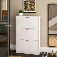 Best Shoe Storage Cabinet By Rebrilliant Shoe Storage Cabinet White, Front Door Shoe Storage, Ikea Shoe Storage, Ikea Shoe Cabinet, Bench With Shoe Storage, Closet Storage, Storage Cabinets, Locker Storage, Storage Organization