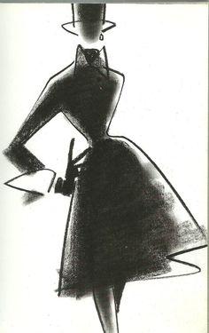 1989 - Gianfranco Ferre 4 Dior by Matts Gustafson Fashion Illustration Sketches, Fashion Sketches, Illustration Art, Fashion Drawings, Christian Dior, Mats Gustafson, Fashion Artwork, Swedish Fashion, Fashion Portfolio