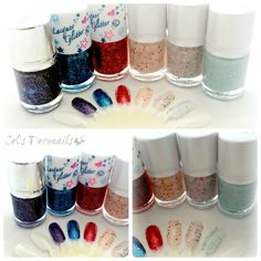 Tony Moly glitter nail polishes