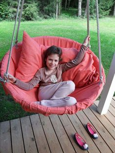 Tija in hanging chair