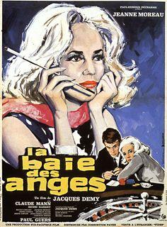 """Bay of Angels (1963) """"La baie des anges"""" (original title)  Stars: Jeanne Moreau, Claude Mann, Paul Guers ~  Director: Jacques Demy"""