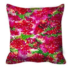 FLORAL ASSUMPTION Red Pink Green Flower Abstract Art Suede Throw Pillow Cushion Cover by EbiEmporium on Etsy, #colorful #decor #homedecor #abstract #floral #flowers #summer #summerdecor #pink #red #girly #moderndecor #modernart #watercolor #design #designer #throwpillow #magenta #crimson #pillow #pillowcover #suede #decorative #bedding #ebiemporium #floraldecor #floralpillow #boldcolors
